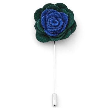 Dark Green Lapel Flower Trendhim