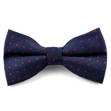 Navy Bordeaux Bow Tie Trendhim