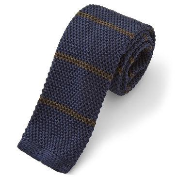 Blue & Red Knitted Tie Trendhim