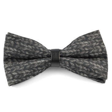 Grey Plaid Wool Bow Tie Trendhim