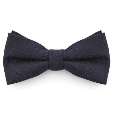 Dark Navy Chequered Pointy Bow Tie Bohemian Revolt
