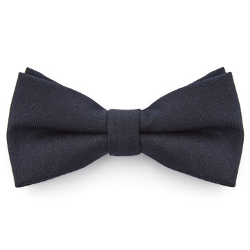 Black Striped Pointy Bow Tie Bohemian Revolt