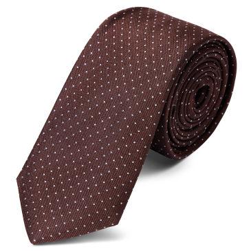 Burnished Brown Polka Dot Silk Bow Tie Trendhim