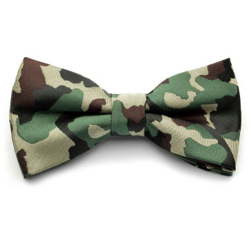 Green / Brown Camouflage Bow Tie Trendhim