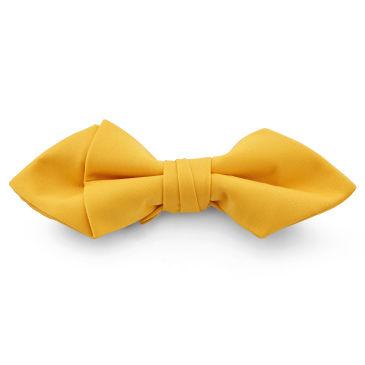 Black Geometric Silk Pre-Tied Bow Tie Trendhim