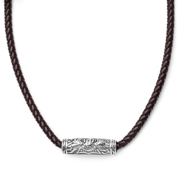 Double Sided Celtic Brown Leather Necklace Trendhim