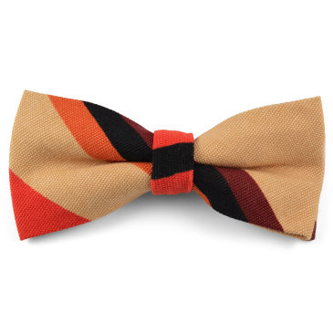 Navy Emblem Striped Bow Tie Trendhim