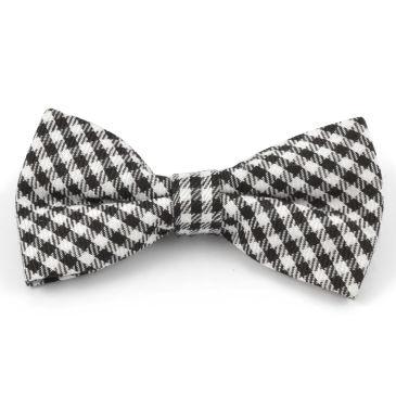 White/Black Chequered Soft Bow Tie Trendhim