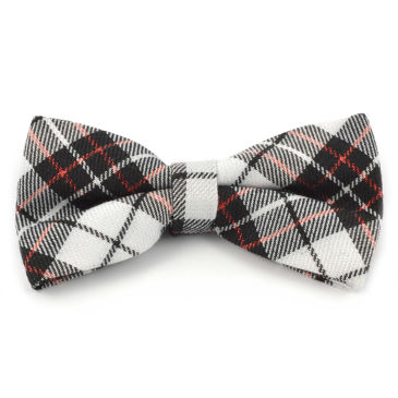 White / Red Shiny Bow Tie Trendhim