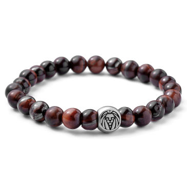 Snake Bones Ancient Campfire Red Tiger Eye Bracelet - Extra Small - 13cm - 14cm