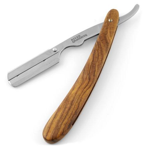 Navaja de afeitar marrón de acero inoxidable para cuchillas desechables 03d735564a74