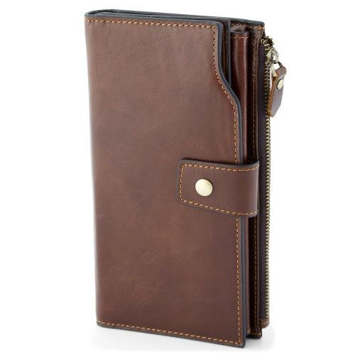 3df17de8690b Vintage Brown RFID Leather Wallet