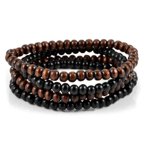 939e7da1103b Collin RoweCombo de pulseras de cuentas marrón y negro