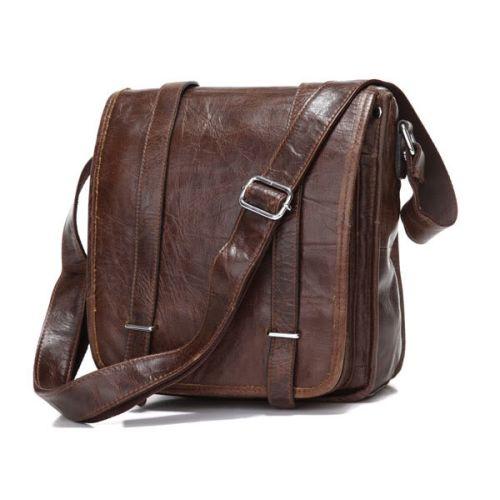 986b4a74cad1e Bandolera de cuero marrón Togo