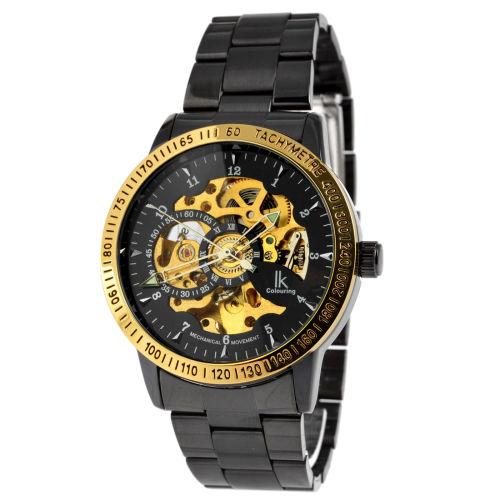 e2d5530e25eb Reloj negro con los bordes dorados Rolat