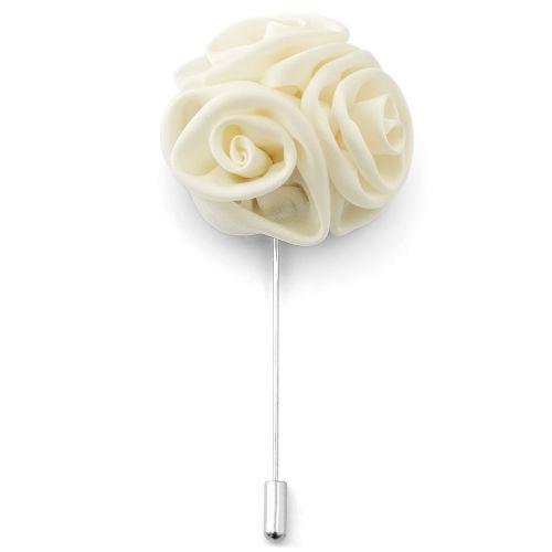 Καρφίτσα Πέτου Cream Rose Flower 25ce42a8750