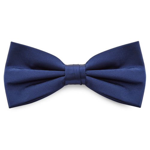 9b04d0074032 Shiny Navy Blue Basic Bow Tie