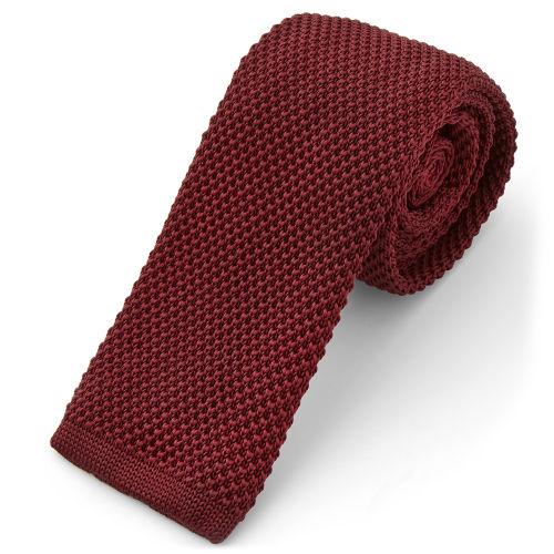 Cravatta lavorata a maglia color mogano intenso 4a7e3b472c12