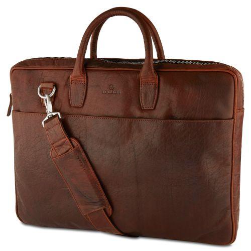 Ταμπά Δερμάτινη Τσάντα Laptop με Διπλό Φερμουάρ Montreal Executive 17cfe5b062b