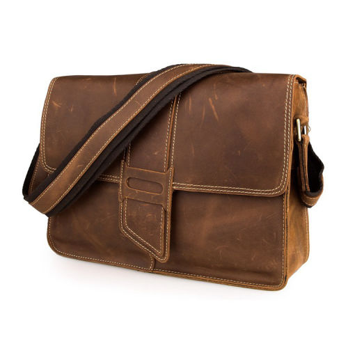 cc5a3341c3 Scuffed Brown Leather Satchel