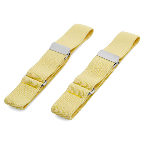 09f438cf84c Slim Soft Yellow Sleeve Garters