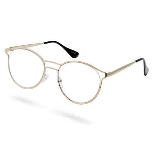 Χρυσαφί Γυαλιά με Διάφανους Φακούς The Brainiac c74fe8ed0c2