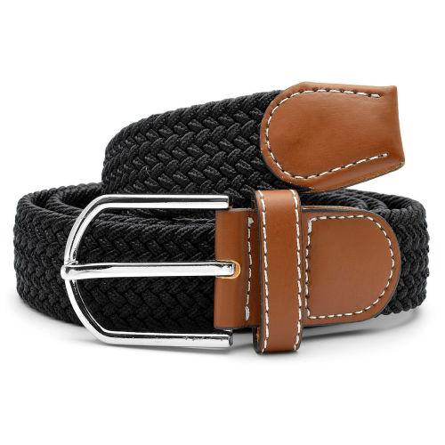 Cinturón elástico negro bd68d4ffe4b3