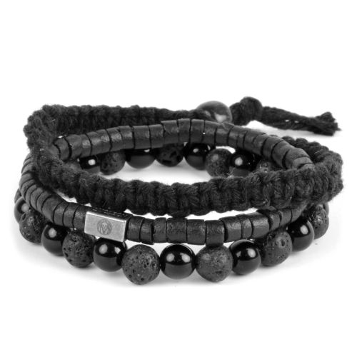 cfc5e6420d13 Black On Black Bracelet Set