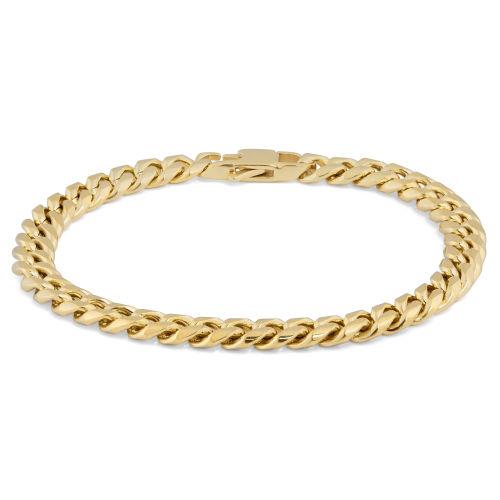 Χρυσαφί Ατσάλινο Βραχιόλι Αλυσίδα 6mm 32e65247361