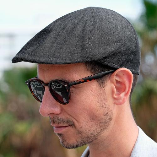 Gorra de golf plana en gris oscuro - thumb 516fdc45916