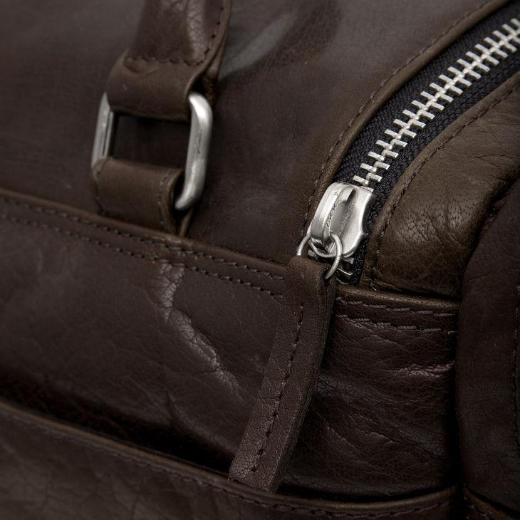 Σκούρα Καφέ Δερμάτινη Ταξιδιωτική Τσάντα Montreal  466a17ddb4a