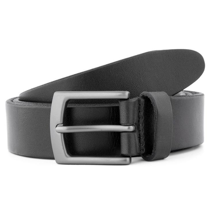 Brown & Gold Classic Leather Belt Salt & Hide