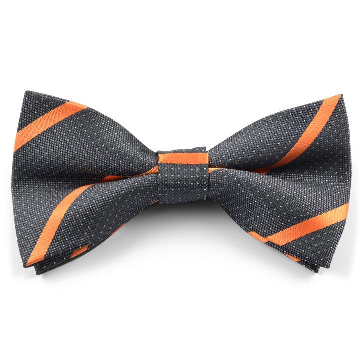 Blue Faux Leather Bow Tie Trendhim