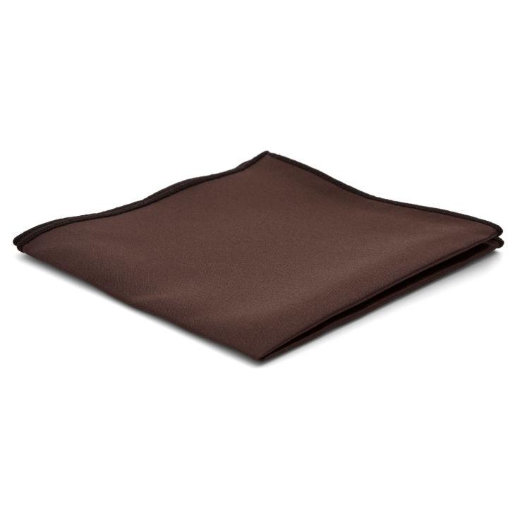 fa0f25852c Σκούρο Καφέ Basic Τετράγωνο Μαντήλι Τσέπης