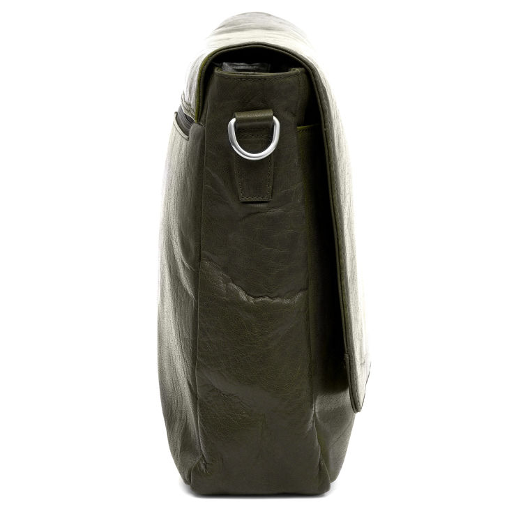 2bd28ca3ee7 Δερμάτινη Τσάντα Ταχυδρόμου Montreal Olive Messenger   Γρήγορη αποστολή    Lucleon