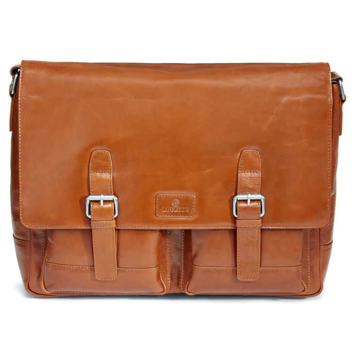 b6dcbca2e0a Tan Jasper Messenger Leather Bag | Lucleon | In stock!