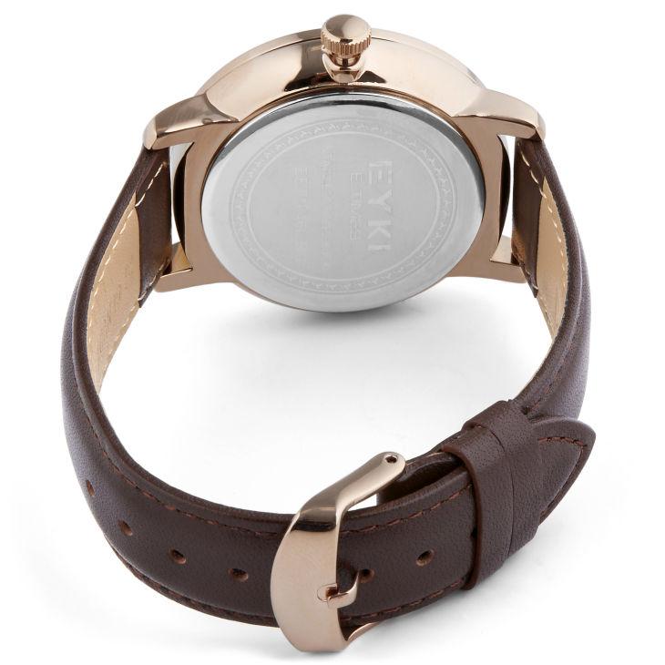 Hnědé a zlaté hodinky Eyki  caa8a9942e
