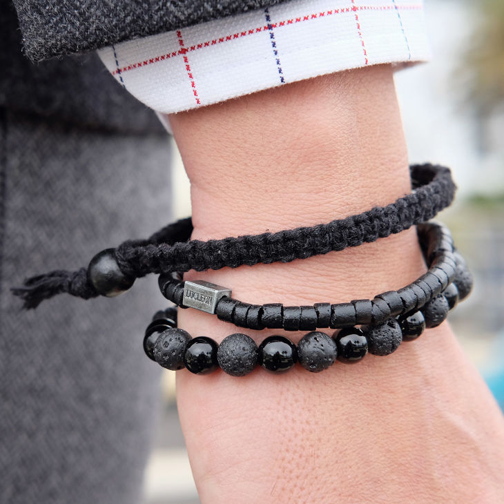 Schwarzes Armband Set | Lucleon | Kostenloser Versand