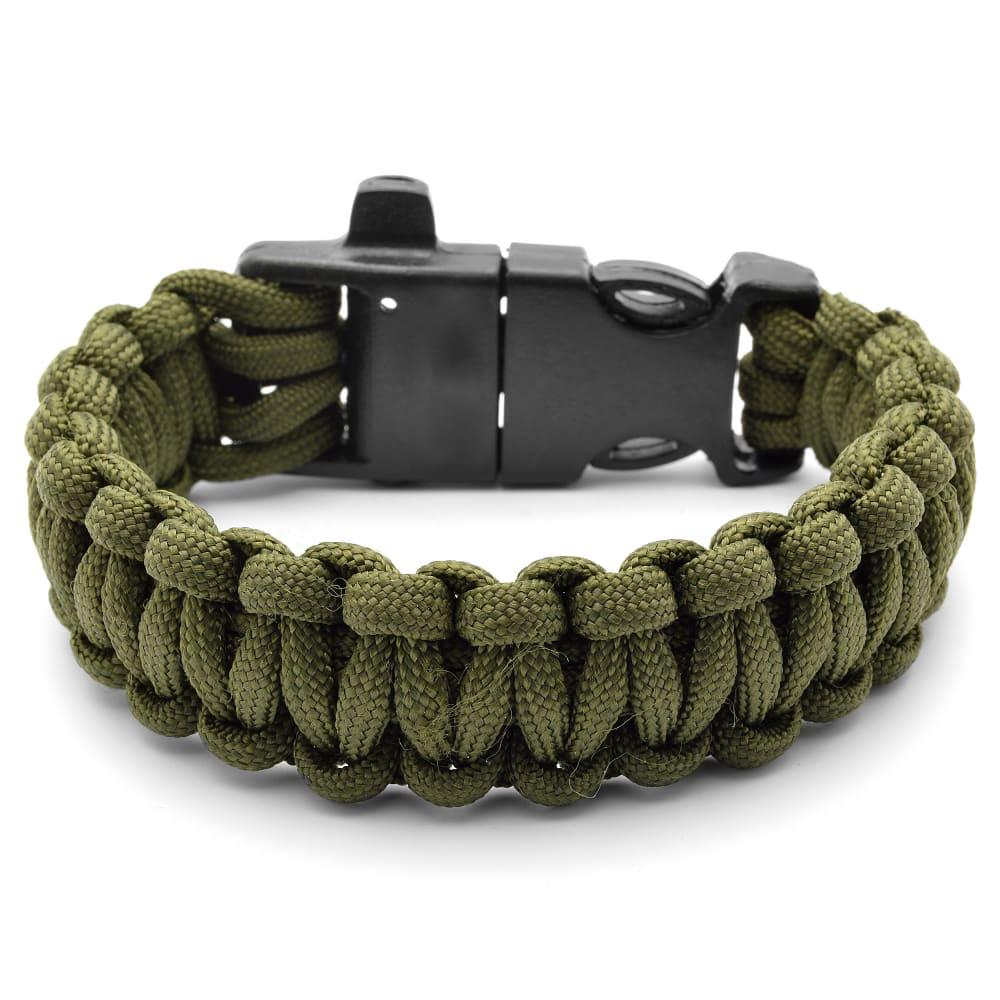 Top Groene Paracord Armband met Vuurstaal | Op voorraad | Tailor Toki IO19