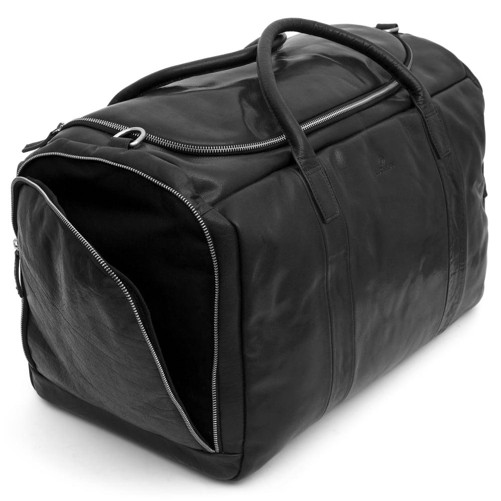 0e531f55b54d Montreal nagyméretű fekete bőr sporttáska | Ingyenes kiszállítás | Lucleon