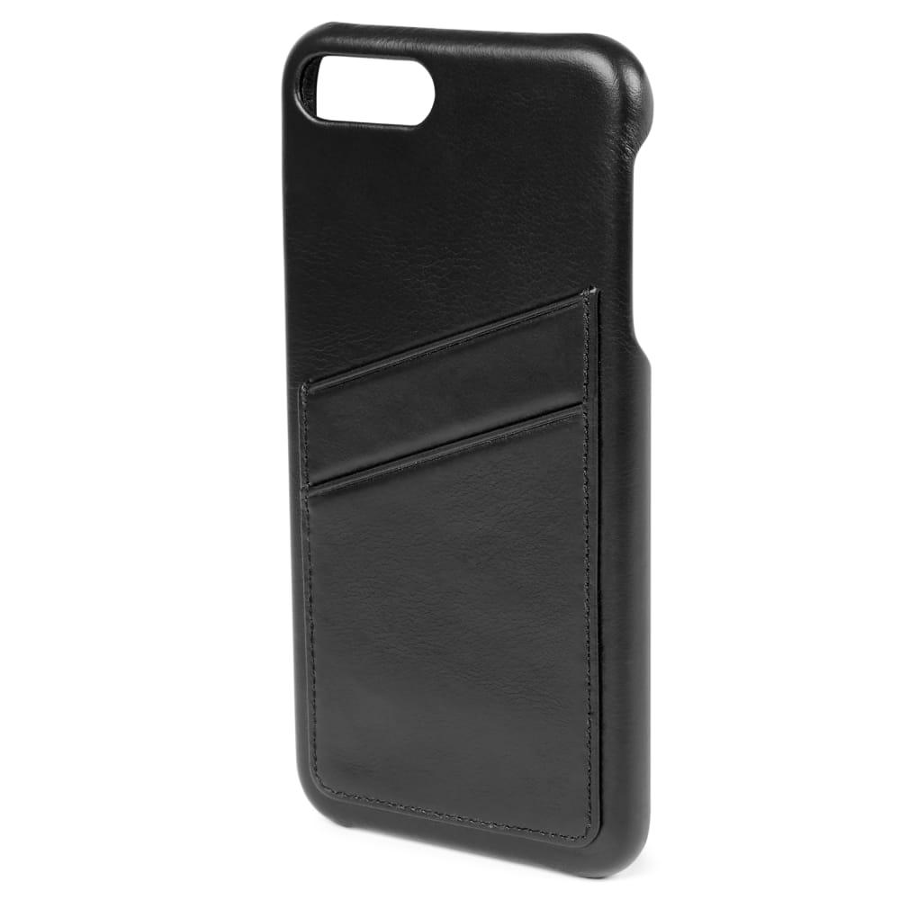 Custodia portacarte in pelle nera per iPhone 7 Plus