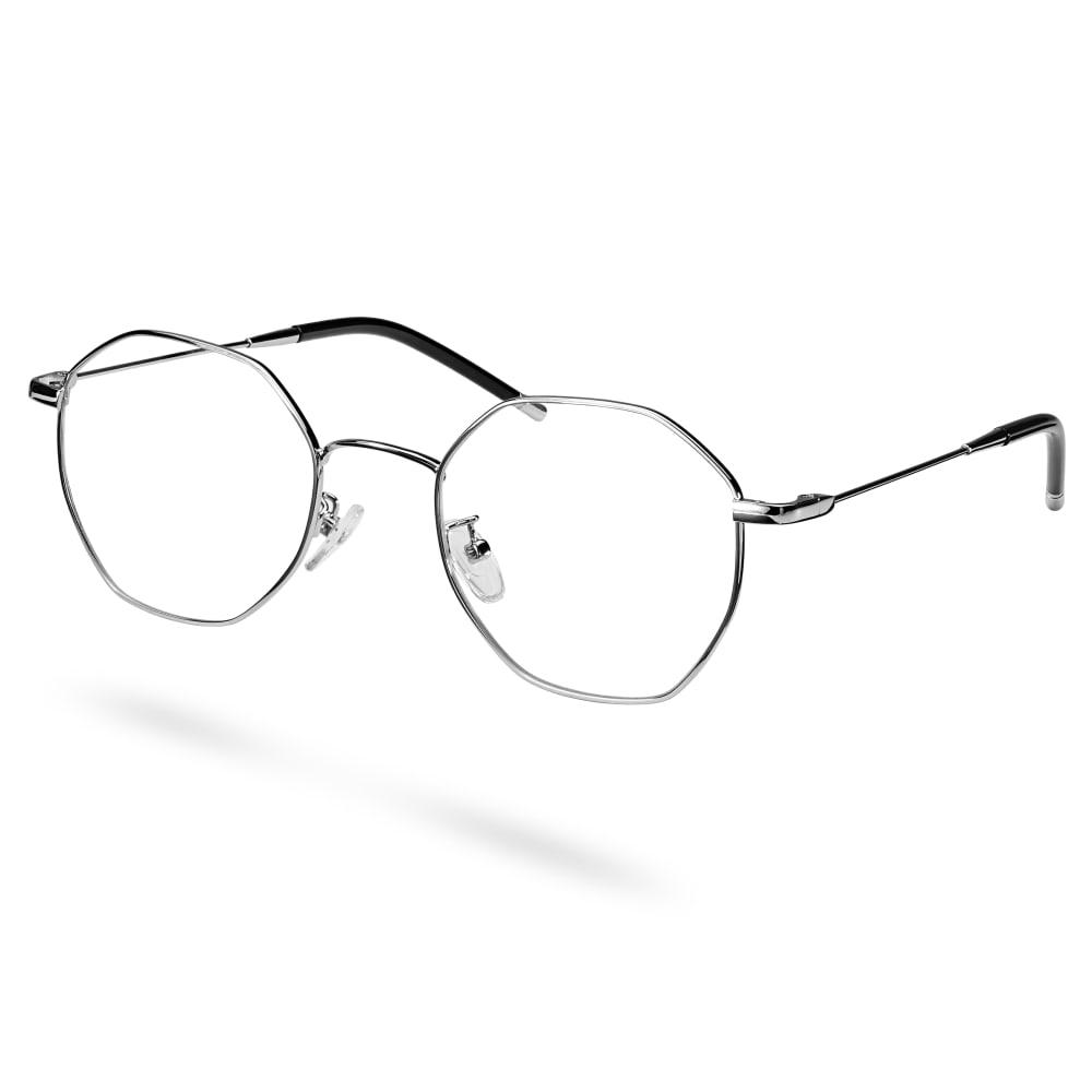 Executive Silverfärgade Glasögon