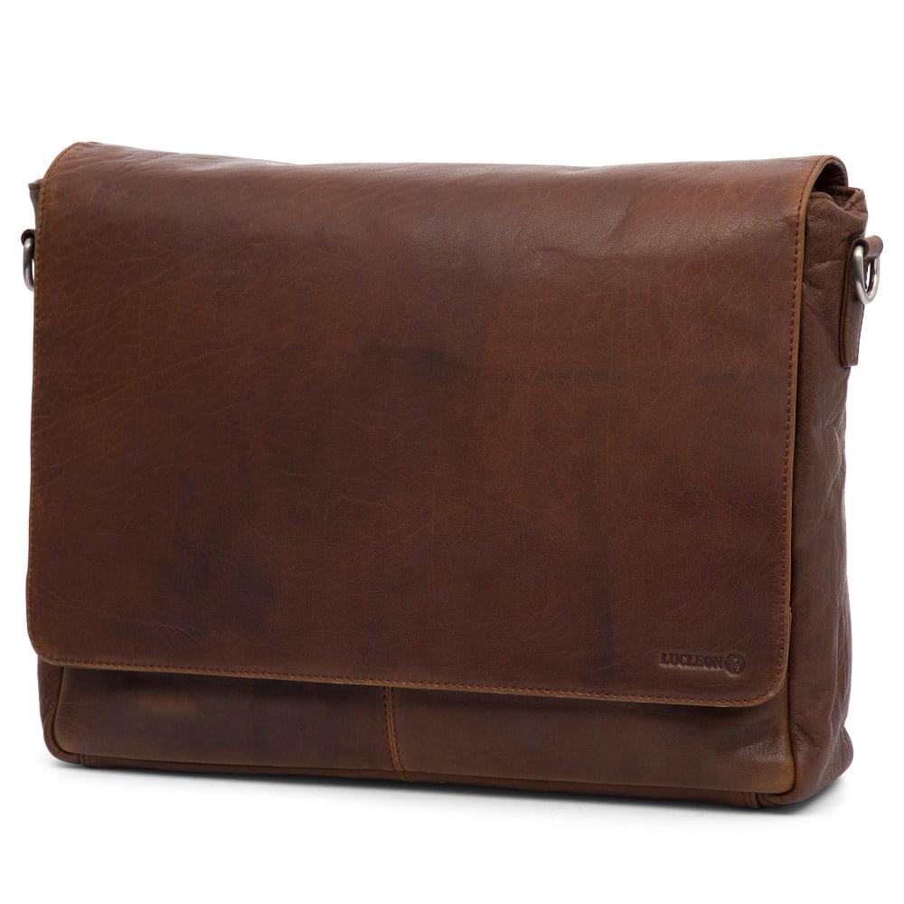 9585bd60b39 Montreal Tan Leather Messenger Bag