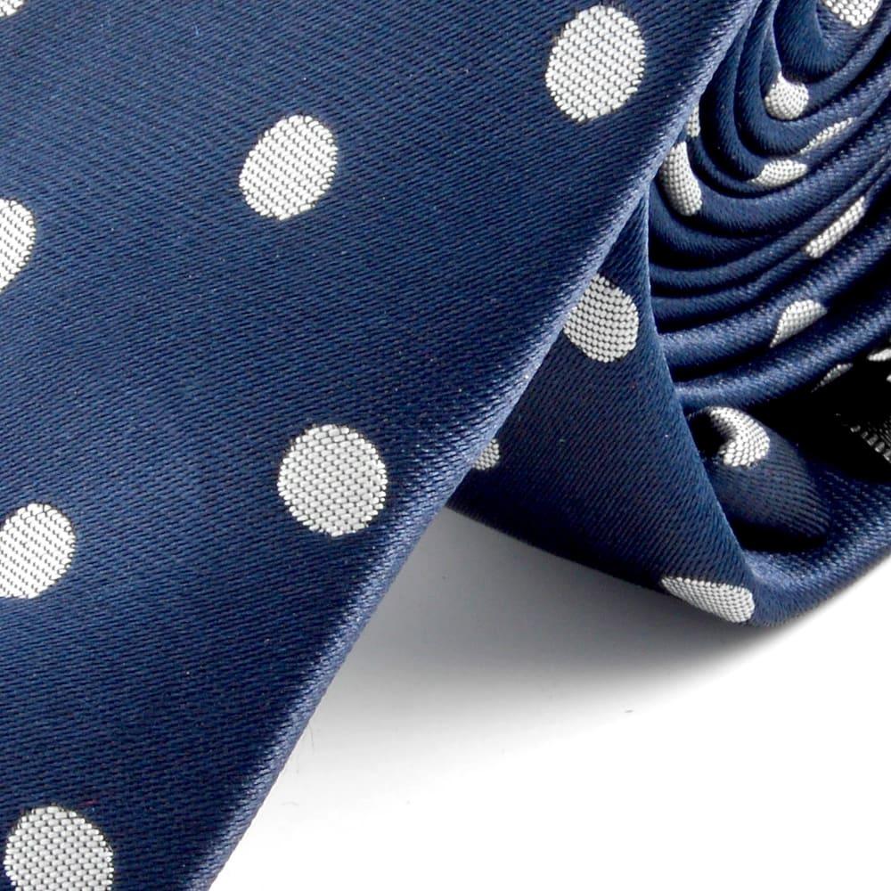 Skjorte blå med hvite prikker og blomster | Prikkar
