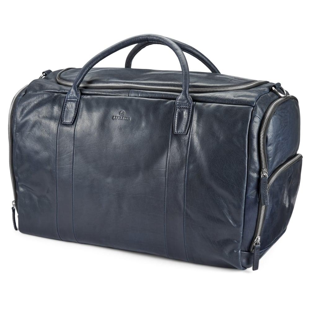 0affe61aa3d45 Kožená veľká tmavomodrá duffel taška Montreal | Doručenie zdarma ...
