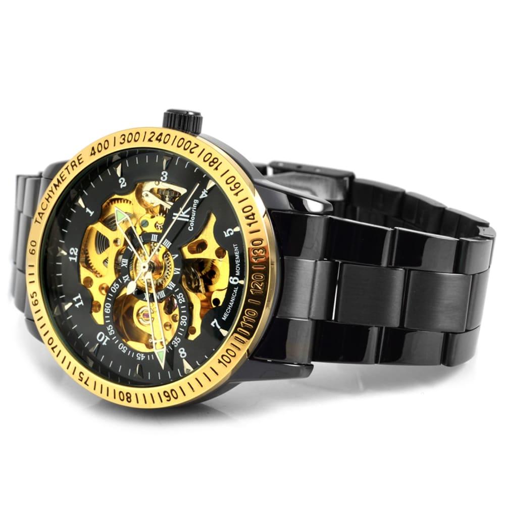 bedea3088 Čierne hodinky Rolat s lunetou v zlatej farbe | Doručenie zdarma | IK  Colouring