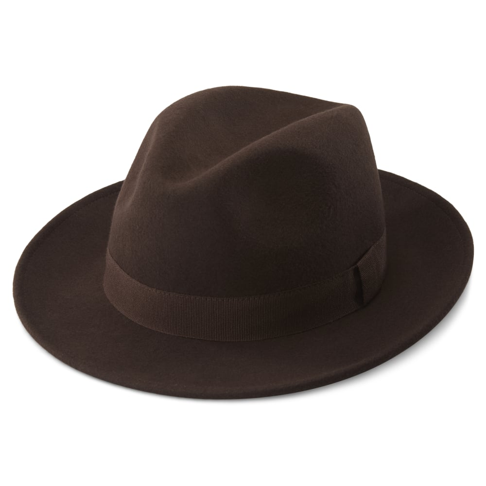 Alessandria Brown Wool Fido Fedora | In stock! | Fawler