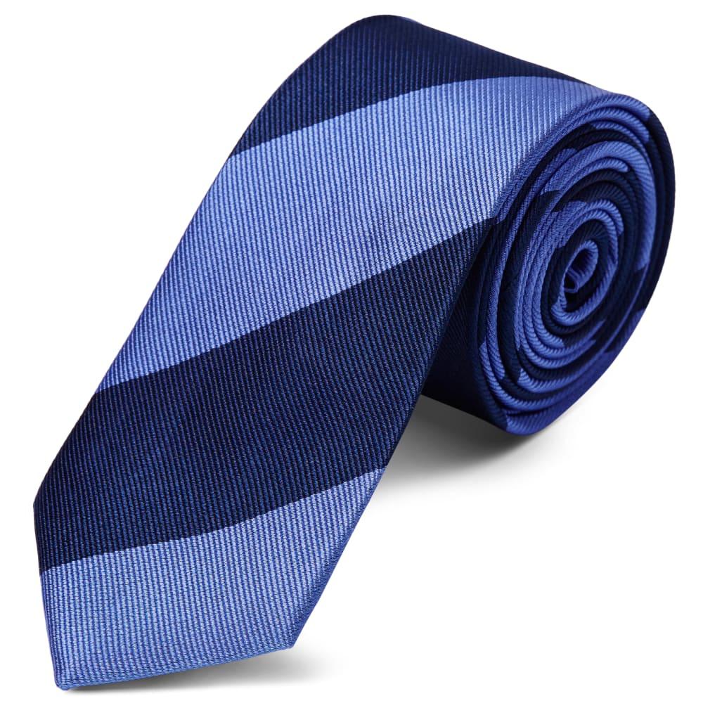 design senza tempo ampia scelta di colori e disegni taglia 40 Cravatta con 2 tonalità di blu in seta da 6 cm con motivo a righe