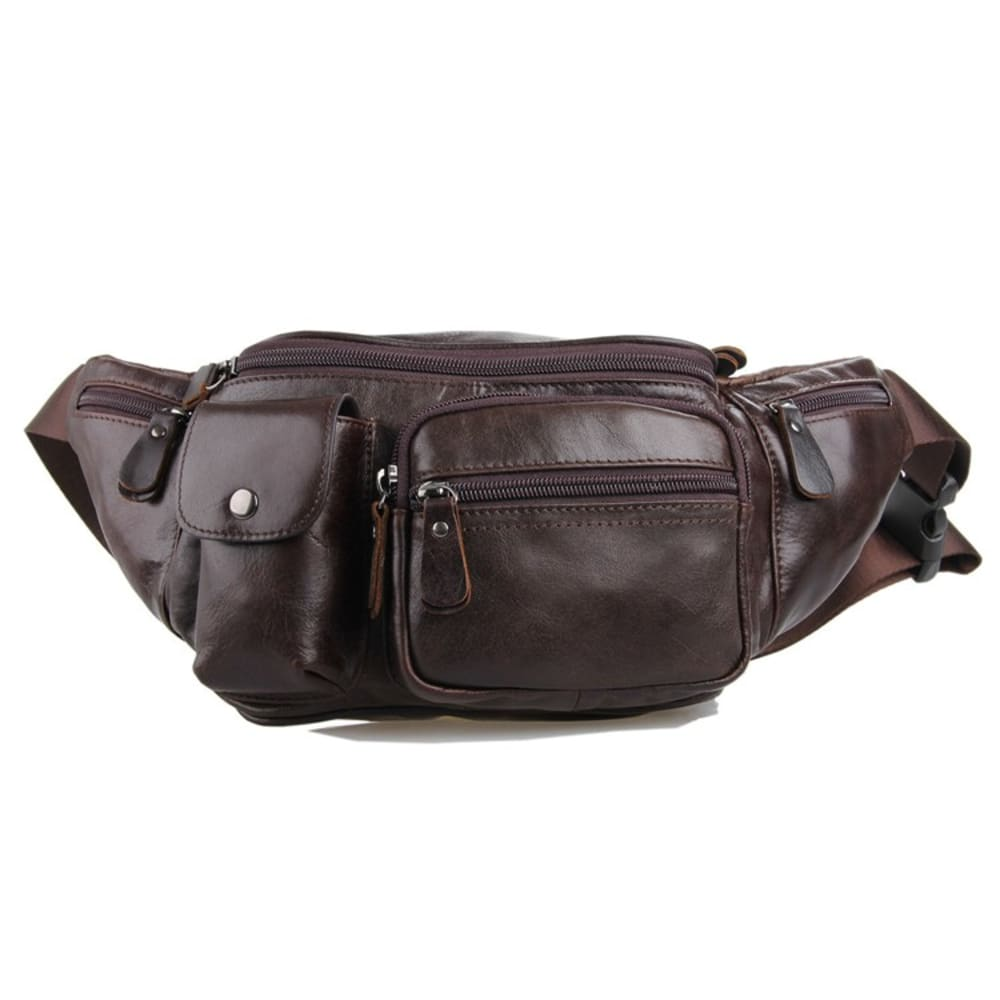 83a85cdc6d5 Brun Læder Bæltetaske   Delton Bags   Fri fragt