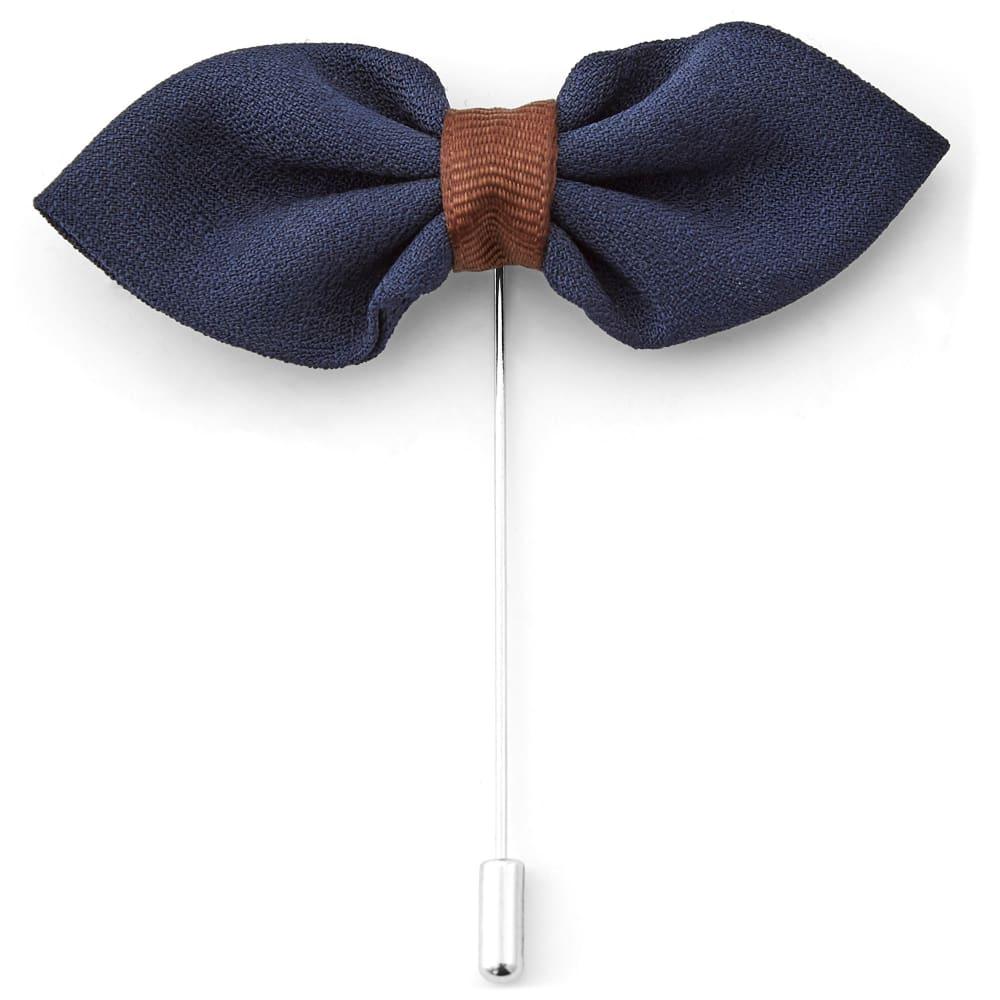 Navy Bow Lapel Pin